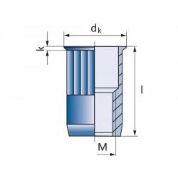 Πριτσίνια σπειρώματος SSM-R-KLSK M8