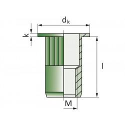 Πριτσίνια σπειρώματος EFM-R M8