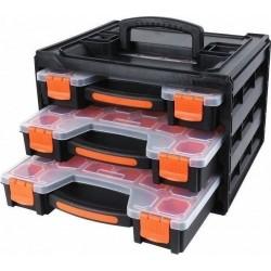 Ταμπακιέρα Πλαστική με θήκες σετ 3 τεμ σε κουτί μεταφοράς