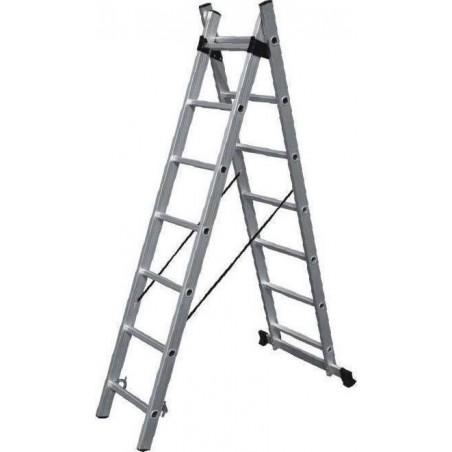 SS14 Σκάλα Αλουμινίου Διπλή Επεικτεινόμενη (2x14)