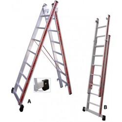800207 Σκάλα Αλουμινίου Επαγγελματικής χρήσης 2x7
