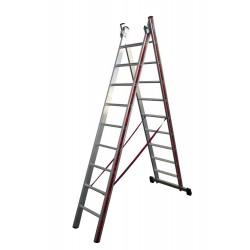 800209 Σκάλα Αλουμινίου Επαγγελματικής χρήσης 2x9