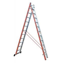 800211 Σκάλα Αλουμινίου Επαγγελματικής χρήσης 2x11