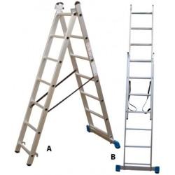 801207 Σκάλα Αλουμινίου Επαγγελματικής χρήσης 2x7 (Ελαφρού Τύπου)