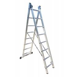801208 Σκάλα Αλουμινίου Επαγγελματικής χρήσης 2x8 (Ελαφρού Τύπου)