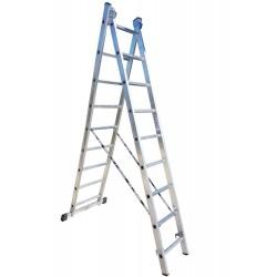 801209 Σκάλα Αλουμινίου Επαγγελματικής χρήσης 2x9 (Ελαφρού Τύπου)