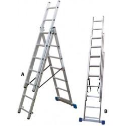 801307 Σκάλα Αλουμινίου Επαγγελματικής χρήσης 3x7 (Ελαφρού Τύπου)