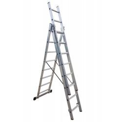 801308 Σκάλα Αλουμινίου Επαγγελματικής χρήσης 3x8 (Ελαφρού Τύπου)