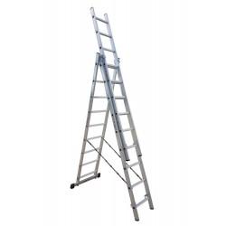 801309 Σκάλα Αλουμινίου Επαγγελματικής χρήσης 3x9 (Ελαφρού Τύπου)
