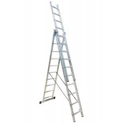 801310 Σκάλα Αλουμινίου Επαγγελματικής χρήσης 3x10 (Ελαφρού Τύπου)