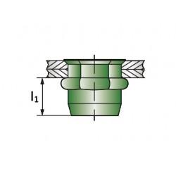 Πρειτσίνια Σπείρώματος Ακέφαλα Ημιεξάγωνα Α2 HEXATOP-E-KLSK M4