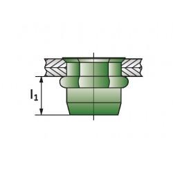 HEXATOP-E-KLSK-G Πριτσίνια Σπειρώματος Ακέφαλα Μ4