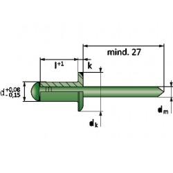 ALFO 3x10 Πριτσίνια με Κεφάλι Α2/Α2
