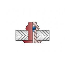 CERTO Με Επίπεδο Κεφάλι Alu/Steel 3,2 x 8