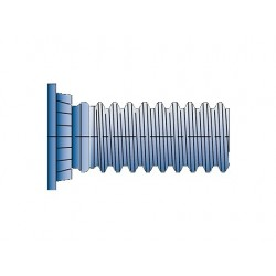 Flush Head Stud - FH Steel
