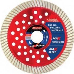 Διαμαντόδισκος MAXPOWER UNIVERSAL-TURBO 125x2,0x12