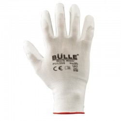 702107 Γάντια Πολυουρεθάνης Λευκό Νο10