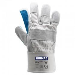 UN105 Γάντια Δερμάτινα Μπλε Νο10