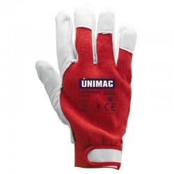 UN701 Γάντια Δερμάτινα Κόκκινα Νο10