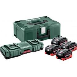 Σετ Φορτιστής 4 x LiHd 8.0Ah + 2 x ASC 145 + MetalLoc