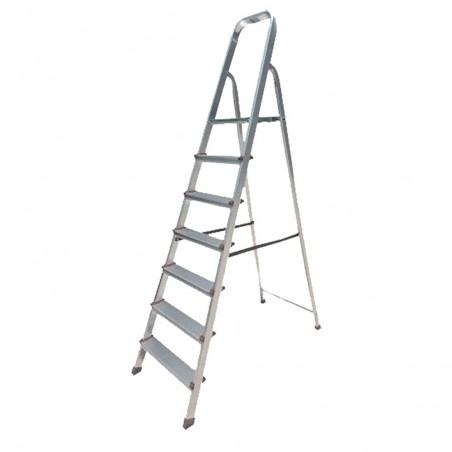 BHL5007 Σκάλα Αλουμινίου 7+1 Σκαλιά