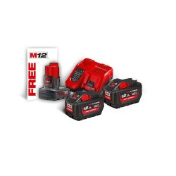 M18 HNRG-122 HIGH OUTPUT™ Σετ 2x12Ah Μπαταρίες και Ταχυφορτιστής + Δώρο 1x4.0Ah
