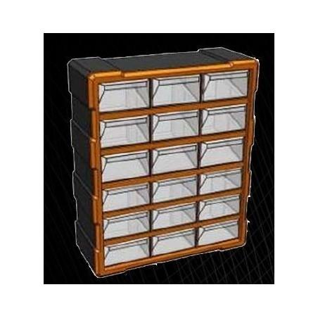 Κουτί Αποθ. πλαστικό με 18 διάφανα συρτάρια (320634)