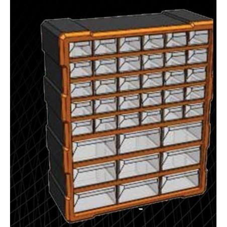 Κουτί Αποθήκευσης με 39 πλαστικά διάφανα συρτάρια (320636)