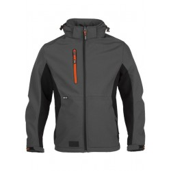Trystan soft shell jacket ANTHRACITE/BLACK L