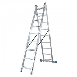 BHL5130 Σκάλα Διπλή Αλουμινίου 2x9
