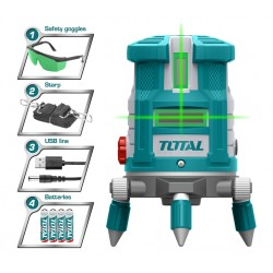 TLL305205 Αλφάδι Laser Πράσινης Οριζόντιας και Κάθετης Δέσμης