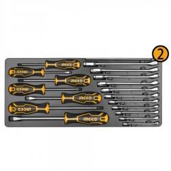 HTCS220971 Σετ 97 τεμ. Εργαλεία σε Μεταλλική Εργαλειοθήκη