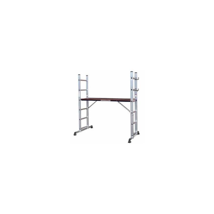 Διπλή σκάλα αλουμινίου 2Χ7 σκαλιά 009658